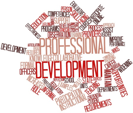evaluative: Abstract word cloud for Professional development with related tags and terms