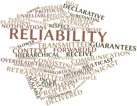 Abstract word cloud for Reliability with related tags and terms Stock Photo - 16772690