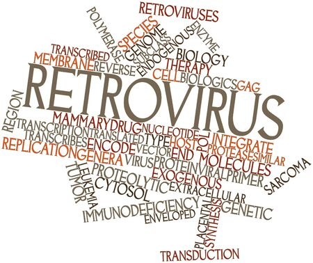 Abstract word cloud for Retrovirus with related tags and terms Stock Photo - 16772734
