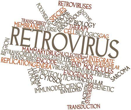 protease: Nube de palabras abstracto para Retrovirus con etiquetas y t�rminos relacionados