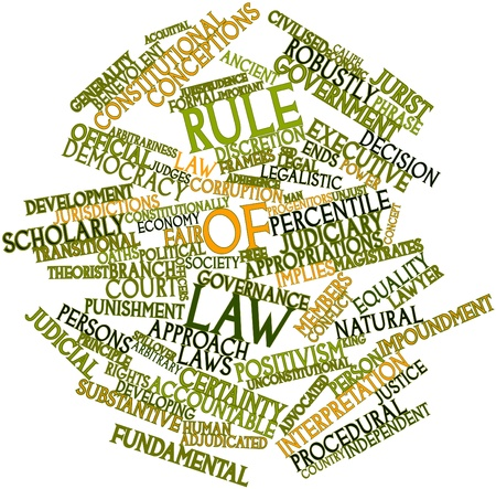 Abstract word cloud for Rule of law with related tags and terms Stock Photo - 16772879