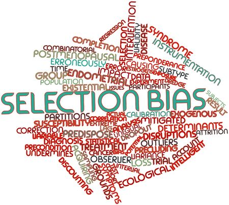Abstract word cloud for Selection bias with related tags and terms