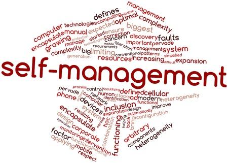 arbitrario: Nube palabra abstracta para el autocuidado con las etiquetas y términos relacionados