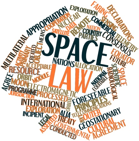 mutually: Abstract word cloud for Space law with related tags and terms