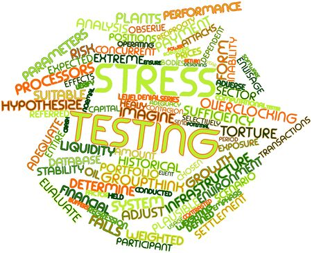 adequacy: Abstract word cloud for Stress testing with related tags and terms
