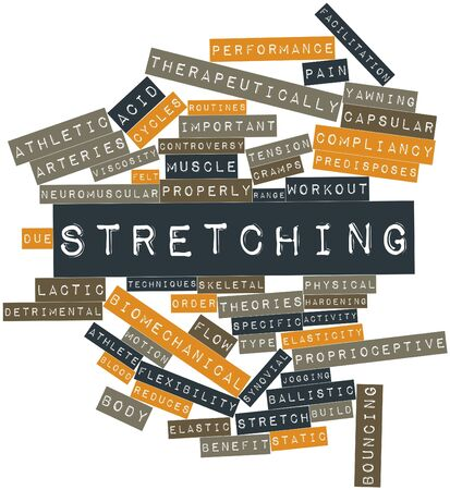 Abstract word cloud for Stretching with related tags and terms Stock Photo - 16772694