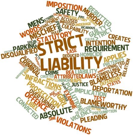 desprecio: Nube palabra abstracta por responsabilidad objetiva con las etiquetas y términos relacionados