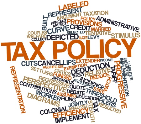 Abstract word cloud for Tax policy with related tags and terms Stock Photo - 16772740