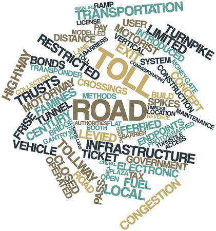tollway: Abstract word cloud for Toll road with related tags and terms