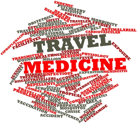 contingency: Abstract word cloud for Travel medicine with related tags and terms