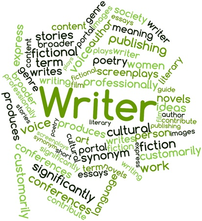 professionally: Abstract word cloud for Writer with related tags and terms