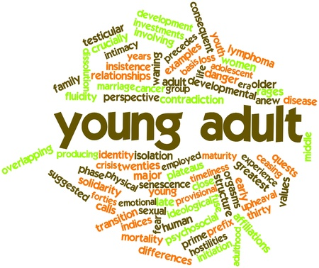 prefix: Abstract word cloud for Young adult with related tags and terms