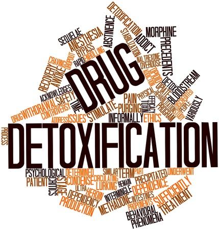 physiological: Nube palabra abstracta para la desintoxicaci�n de drogas con las etiquetas y t�rminos relacionados