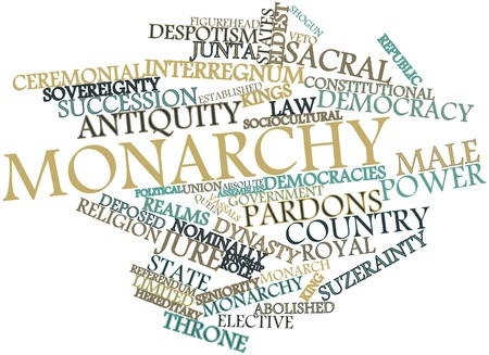 Abstract word cloud for Monarchy with related tags and terms Stock Photo - 16772707