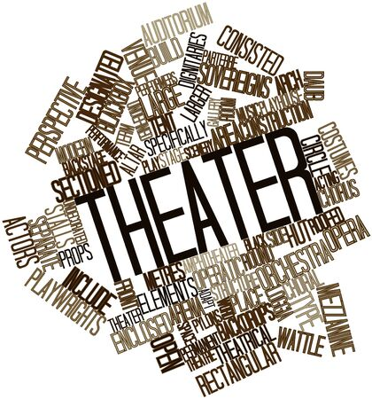Abstract word cloud for Theater with related tags and terms Stock Photo - 16772864
