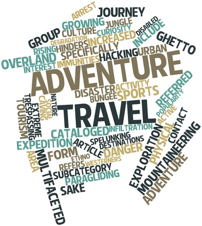 Abstract word cloud for Adventure travel with related tags and terms Stock Photo - 16772943