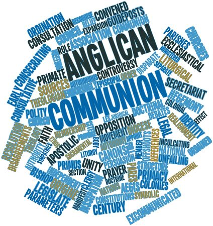 Abstract word cloud for Anglican Communion with related tags and terms