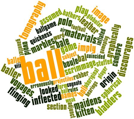scrimmage: Abstract word cloud for Ball with related tags and terms