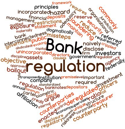 organisational: Abstract word cloud for Bank regulation with related tags and terms