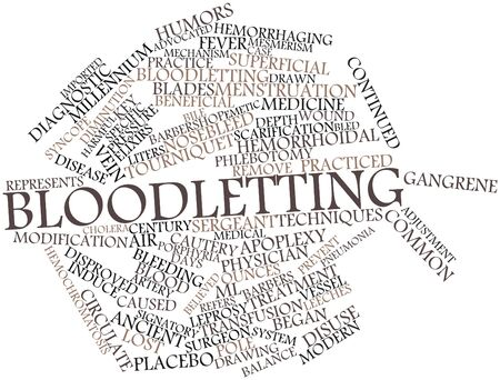 Abstract word cloud for Bloodletting with related tags and terms Stock Photo - 16773638
