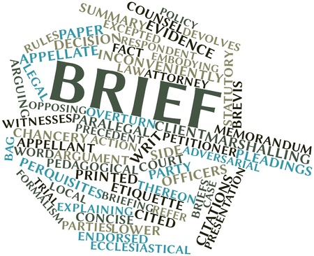 Abstract word cloud for Brief with related tags and terms Stock Photo - 16772946
