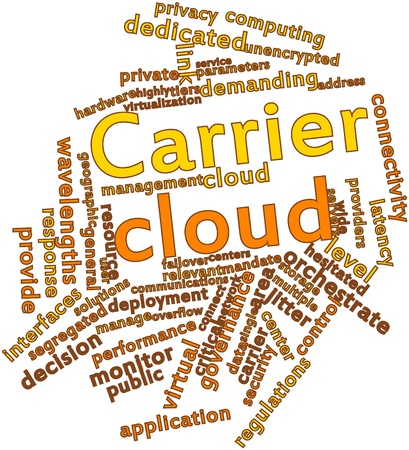 Abstract word cloud for Carrier cloud with related tags and terms Stock Photo - 16774214