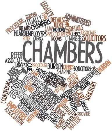 solicitors: Abstract word cloud for Chambers with related tags and terms