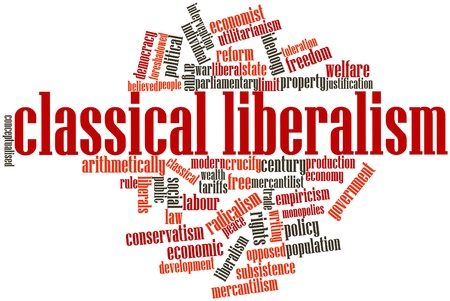 populist: Abstract word cloud for Classical liberalism with related tags and terms