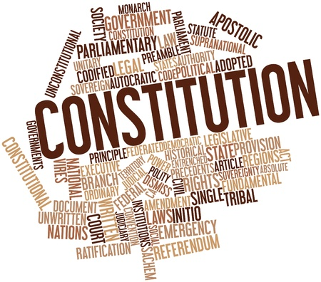 Abstract word cloud for Constitution with related tags and terms Stock Photo - 16773868
