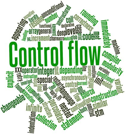 unstructured: Abstract word cloud for Control flow with related tags and terms