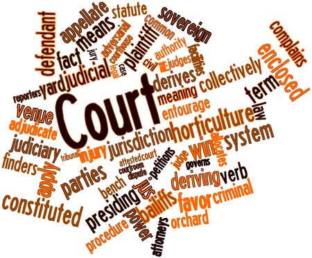 Abstract word cloud for Court with related tags and terms Stock Photo - 16774259