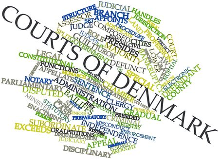 Abstract word cloud for Courts of Denmark with related tags and terms Stock Photo - 16774128