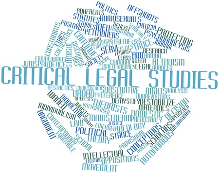 conceptions: Abstract word cloud for Critical legal studies with related tags and terms