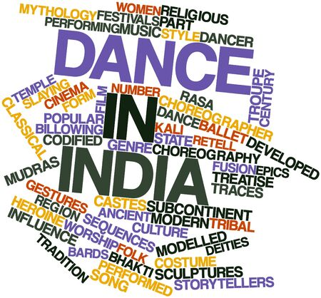 treatise: Abstract word cloud for Dance in India with related tags and terms