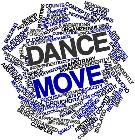 arbitrary: Abstract word cloud for Dance move with related tags and terms Stock Photo
