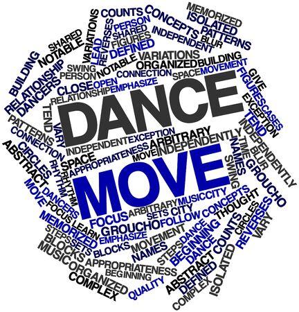 arbitrario: Nube palabra abstracta para paso de baile con las etiquetas y términos relacionados