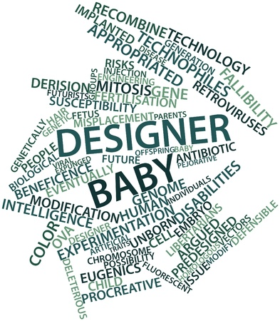 Abstract word cloud for Designer baby with related tags and terms photo