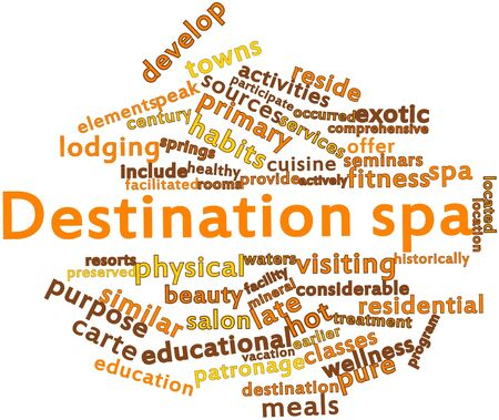 Abstract word cloud for Destination spa with related tags and terms Stock Photo - 16773519