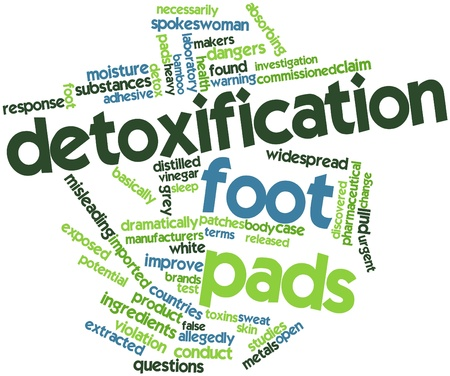 detox: Abstract word cloud for Detoxification foot pads with related tags and terms
