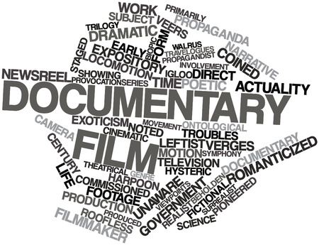 Abstract word cloud for Documentary film with related tags and terms Stock Photo - 16772916