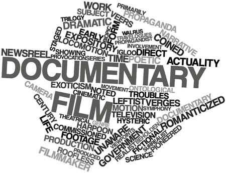 observational: Nube palabra abstracta para el cine documental con las etiquetas y t�rminos relacionados