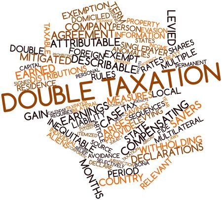 arises: Abstract word cloud for Double taxation with related tags and terms