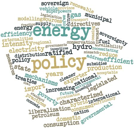 amended: Abstract word cloud for Energy policy with related tags and terms