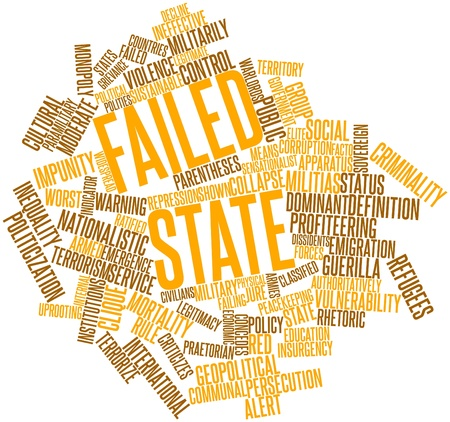 ineffective: Abstract word cloud for Failed state with related tags and terms