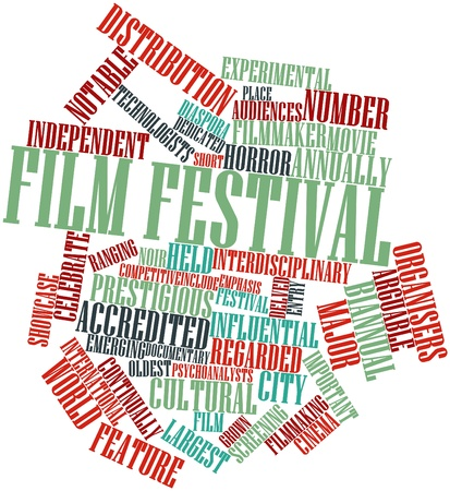 Abstract word cloud for Film festival with related tags and terms Stock Photo - 16774217