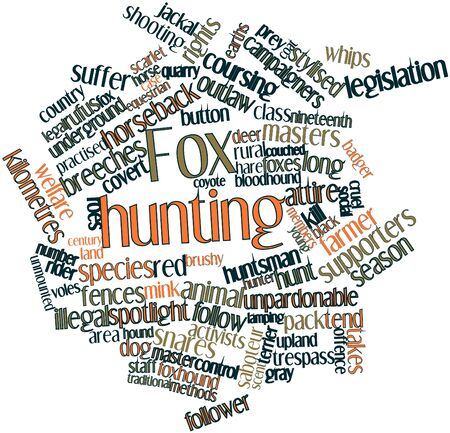 Abstract word cloud for Fox hunting with related tags and terms Stock Photo - 16774637