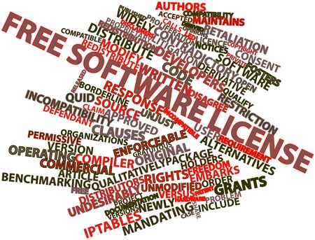 quid: Abstract word cloud for Free software license with related tags and terms