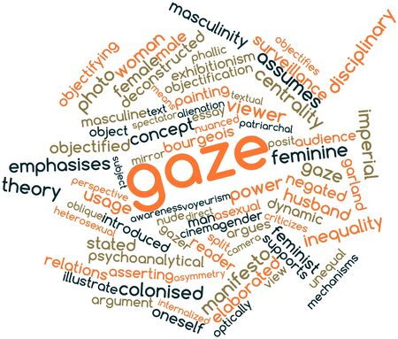retrospect: Abstract word cloud for Gaze with related tags and terms