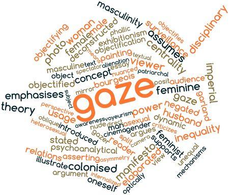 gaze: Abstracte woord wolk voor Gaze met gerelateerde tags en termen