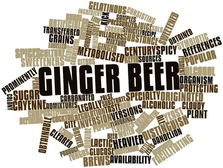 labelled: Abstract word cloud for Ginger beer with related tags and terms